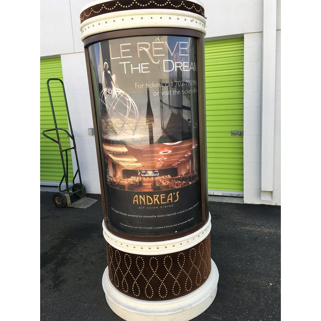 Large Lighted Rotating Advertisement Kiosk - Image 6 of 6
