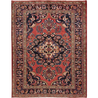 "Apadana - Vintage Persian Hamadan Rug, 5'2"" x 6'9"""