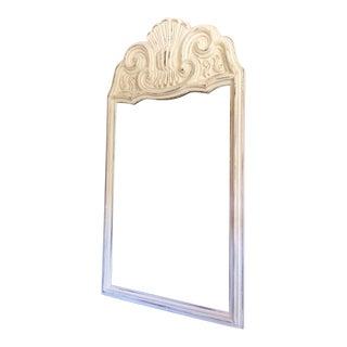 Ornate White Washed Coastal Mirror