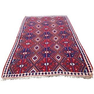 Vintage Turkish Kilim Rug - 4′11″ × 7′8″