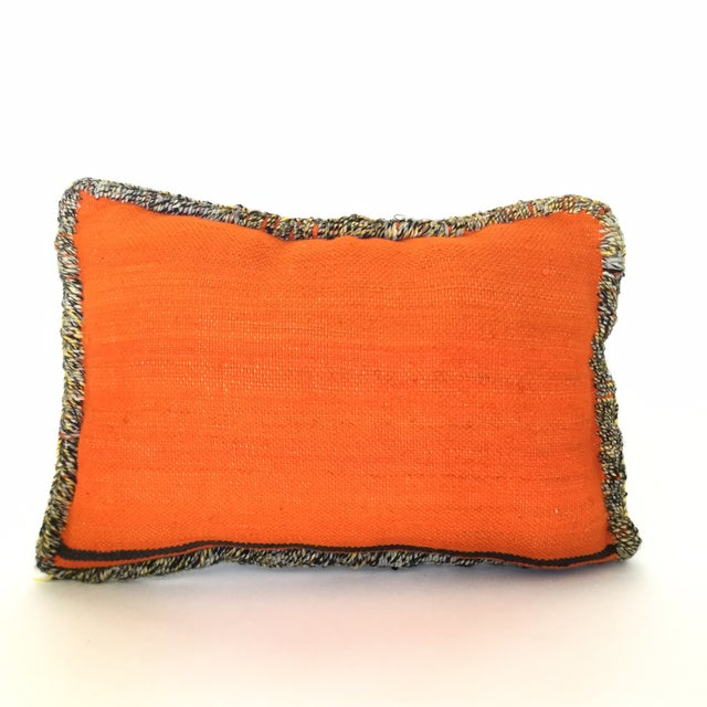 Moroccan Berber Vintage Kilim Wool Pillow - Image 5 of 5