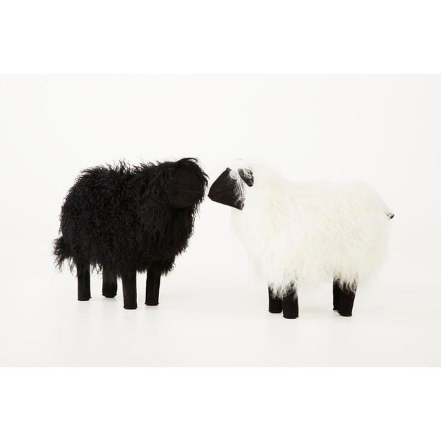 Lalanne Style Tibetan Lamb Sheep in White - Image 2 of 3