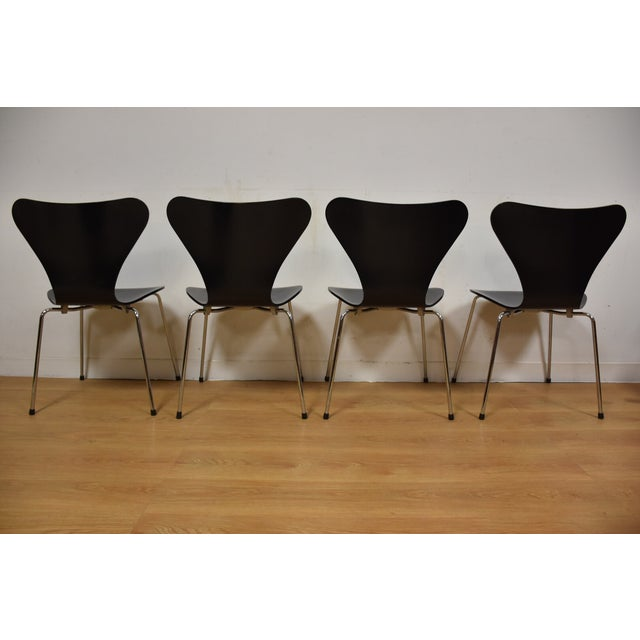 Arne Jacobsen Fritz Hansen Chairs - Set of 4 - Image 5 of 11