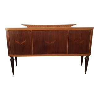 French 1940's Moderne Marquetry Sideboard and Bar