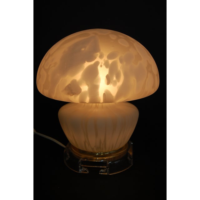 Vintage Frosted Murano Mushroom Lamp - Image 10 of 11