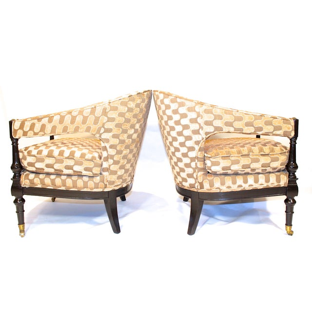 Vintage Mid-Century Barrel Club Chairs - A Pair - Image 5 of 7