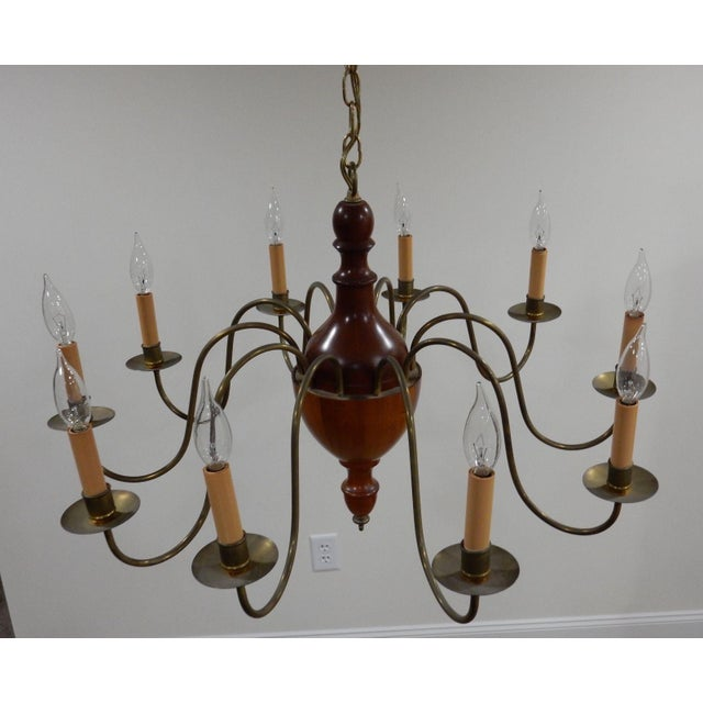Modern Arm Chandelier: Mid Century Modern Parzinger Style Teak And Brass 10 Arm
