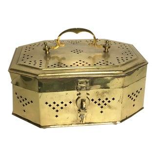 Vintage Oversize Brass Cricket Box