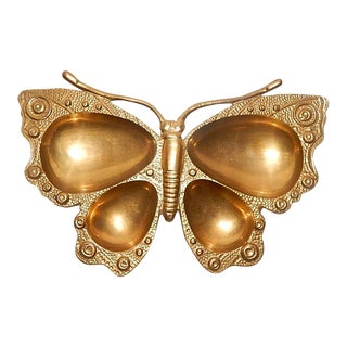 Vintage Brass Monarch Butterfly Change Holder