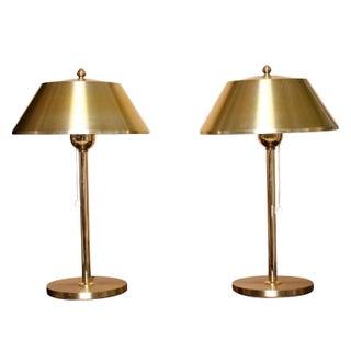 Ewå Värnamo Danish Brass Table Lamps