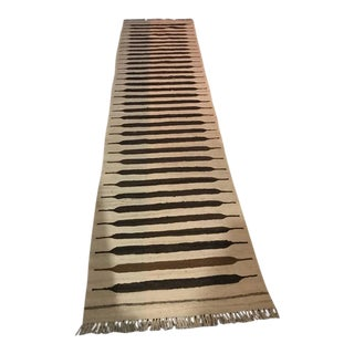 "Modern Kilim Wool Runner - 2'5"" x 9'7"""
