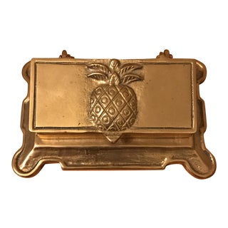 Brass Pineapple Stamp Box