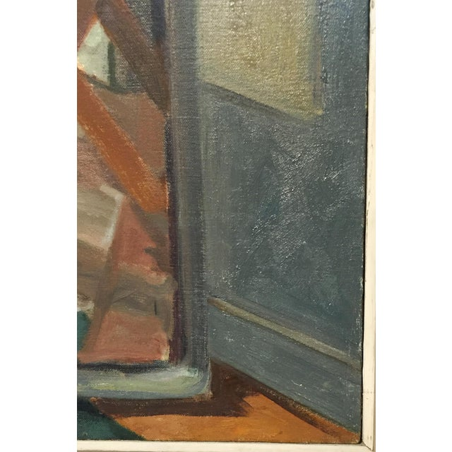 Image of Painter at an Easel by L. Budd, Signed, 1975