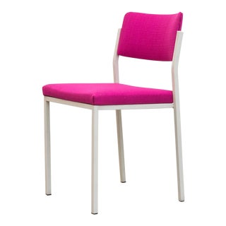 Kembo Hot Pink & White Enameled Metal Side Chair