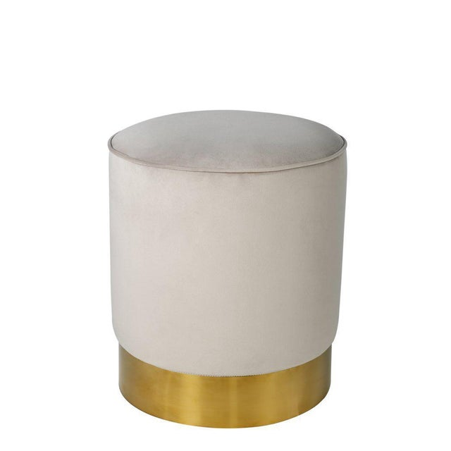 Contemporary Gray & Gold Stool - Image 2 of 3