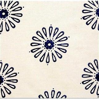 Elizabeth Eakins Hand-Block Indigo Kala Fabric