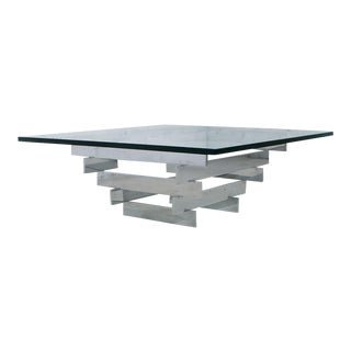 Paul Mayen for Habitat Chrome & Glass Coffee Table
