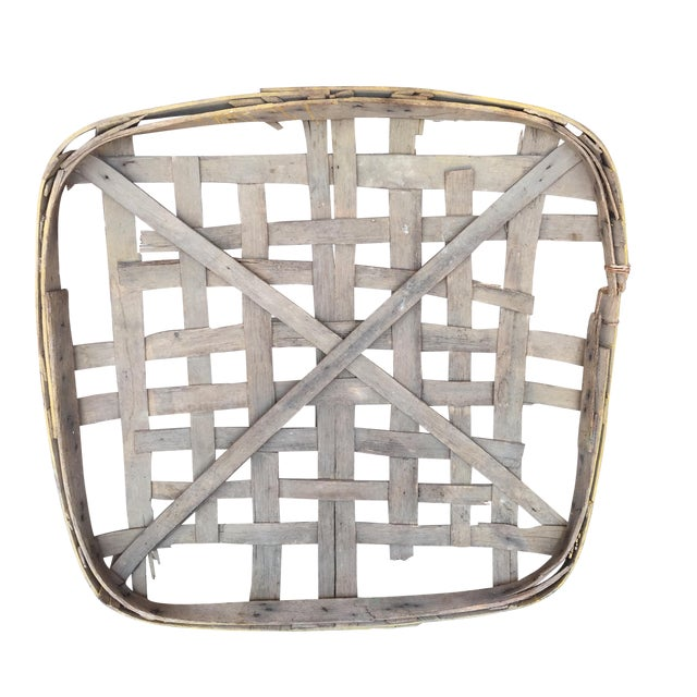 Antique Yellow Trim Tobacco Basket - Image 1 of 5