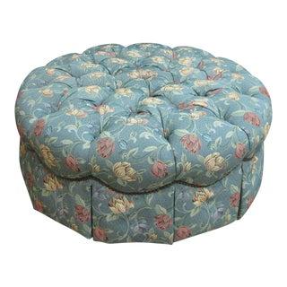 Henredon Tufted Round Schoonbeck Hobb Nail Ottoman Foot Stool Bench Seat