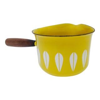 Cathrineholm Yellow Enamel Lotus Saucier Pot