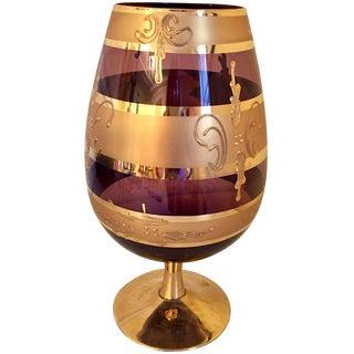 Oversize Smokey Purple Glass Goblet