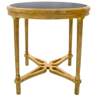 Carved Italian Gilt-wood Table With Granite Top by Randy Esada Designs