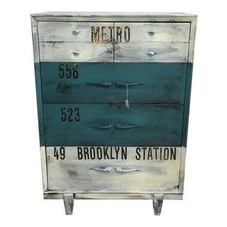 Vintage Industrial 4 Drawer Dresser