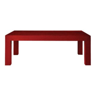Bungalow 5 Red Lacquered Parsons Coffee Table