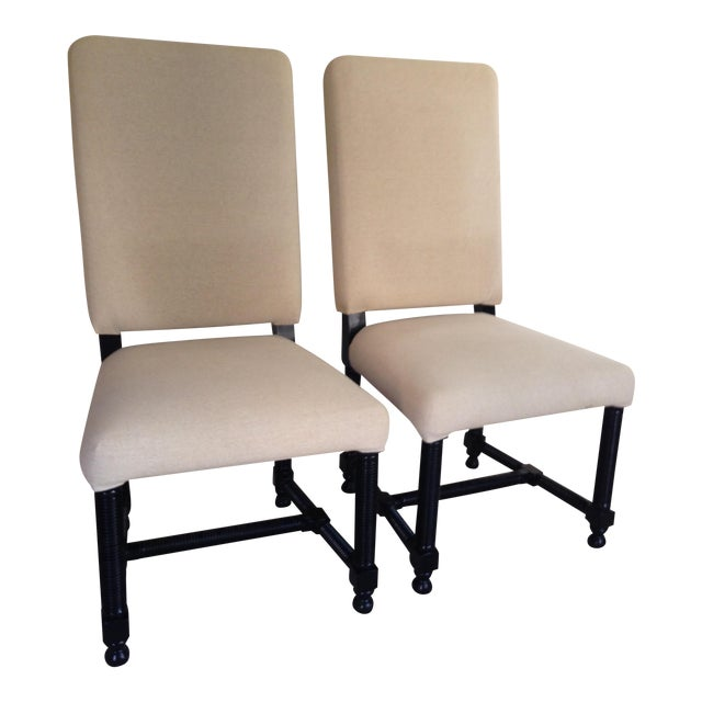 Side Accent Chairs By Noir Furniture A Pair Chairish