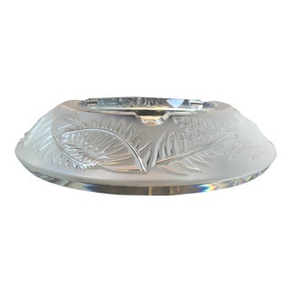 Lalique Frosted Crystal Ashtray