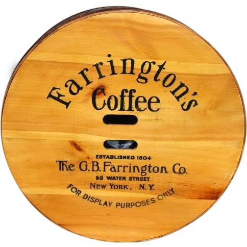 Image of Vintage Old Stock Coffee Barrel Lid
