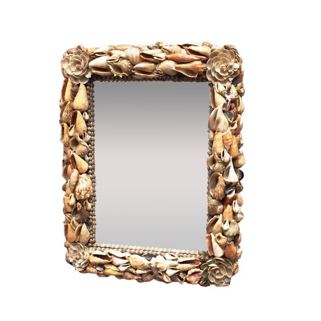 Vintage Shell Mirror From Hawaii - Image 1 of 7