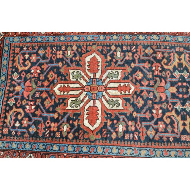 Antique Persian Heriz Karajeh Runner- 3′6″ × 8′10″ - Image 6 of 11
