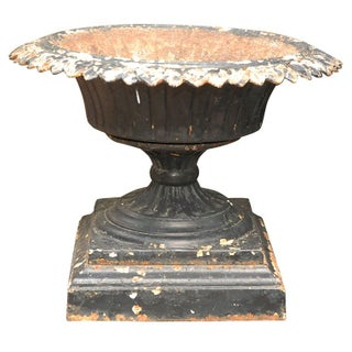 English Black Iron Urn