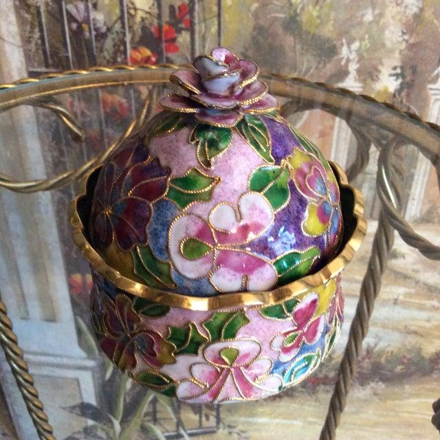 Cloisonné Floral Box - Image 3 of 5