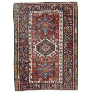 RugsinDallas Antique Hand-Knotted Wool Persian Karajeh - 3′ × 4′2″
