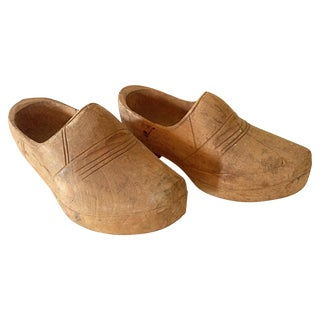 Belgian Wooden Clogs - A Pair