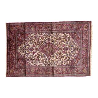 "Leon Banilivi Antique Silk Kashan Rug - 4'6"" X 6'10"""
