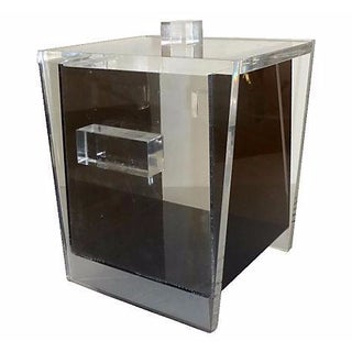 Black and Clear Lucite Ice Holder