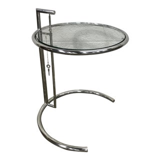 Eileen Gray Chrome Side Table