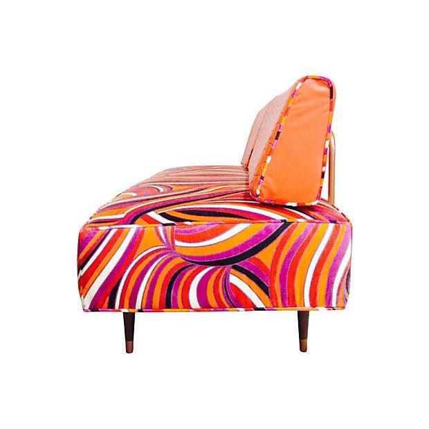 Vintage Mod Upholstered Daybed - Image 4 of 7