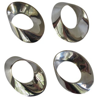 Silver-Plate Napkin Rings - Set of 4