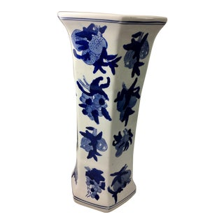 Blue & White Export Style Tall Vase