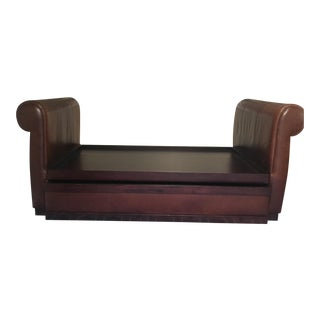 Cognac Leather Twin Bed
