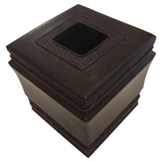 Tissue Box Cover in Rubbed Bronze