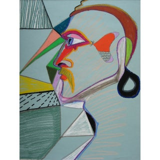 20th Century Surrealist Profile Drawing