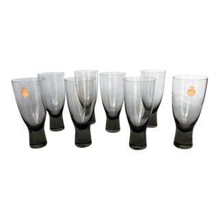 Holmegaard Mid-Century Danish Smokey Wine Port Glasses - Set of 8