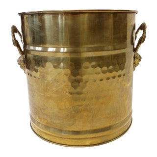 Sale!! Brass Lion Head Handle Planter