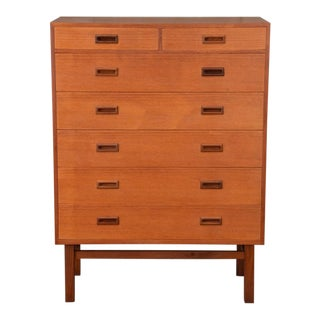 Danish Teak Seven Drawer Highboy Dresser
