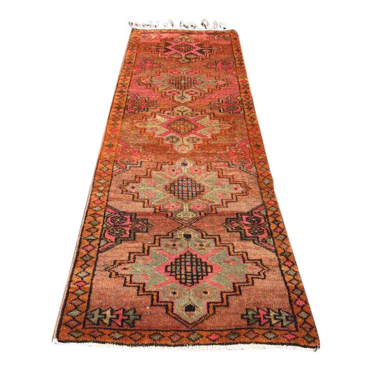 Vintage Turkish Runner Rug - 3′6″ × 10′10″ - Image 1 of 7